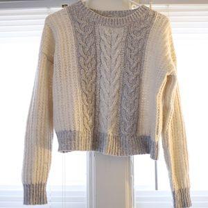 Grey & White Anthropology Sweater